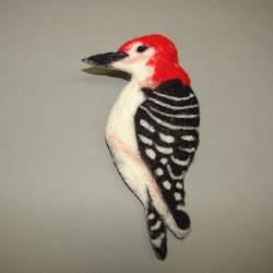 """Brooch """"Woodpecker"""""""