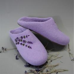 """40 felt slippers """"Lavender"""""""