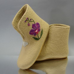 """39 felt home boots """"Orchid"""""""