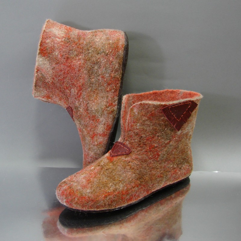 "38 felt home boots ""Granite"""