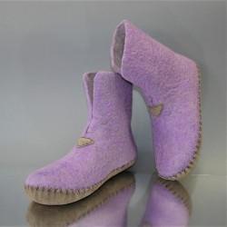 """38 felt home boots """"Lilac..."""