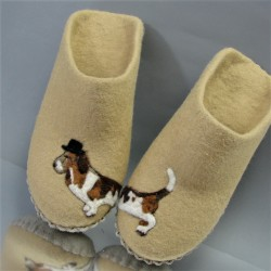 """40 slippers """"Mr. Basset"""""""