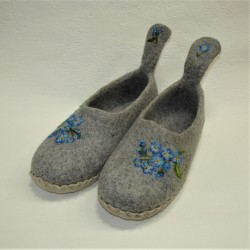 """39 slippers """"Forget-me-nots"""""""