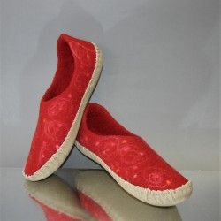 "40 slippers ""Lingonberry"""