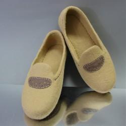 """42 felt slippers """"LATTE"""""""