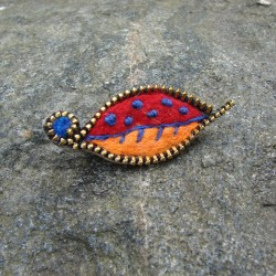"Brooch ""The Leaf"""