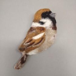 """Brooch """"Sparrow"""""""