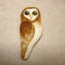 """Brooch """"Owl"""" 2"""